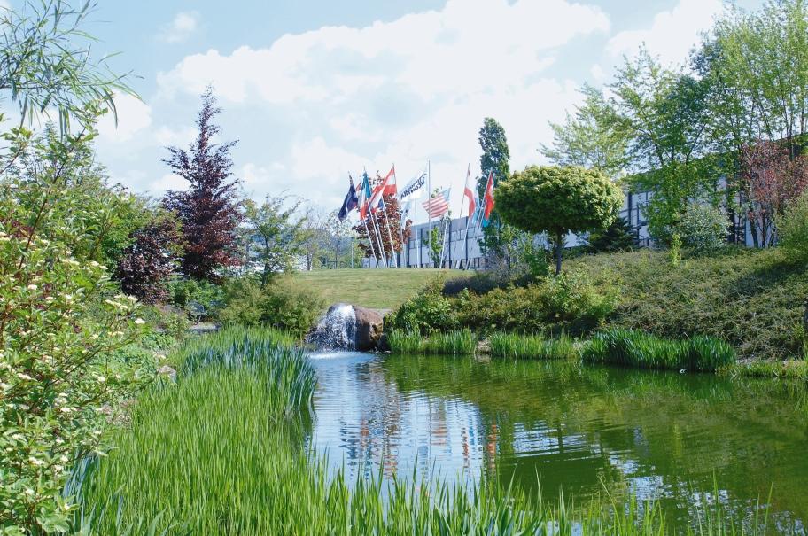 Grüne Pause am Teich - so lässt es sich aushalten