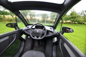 Elektroauto Renault Twizy von innen