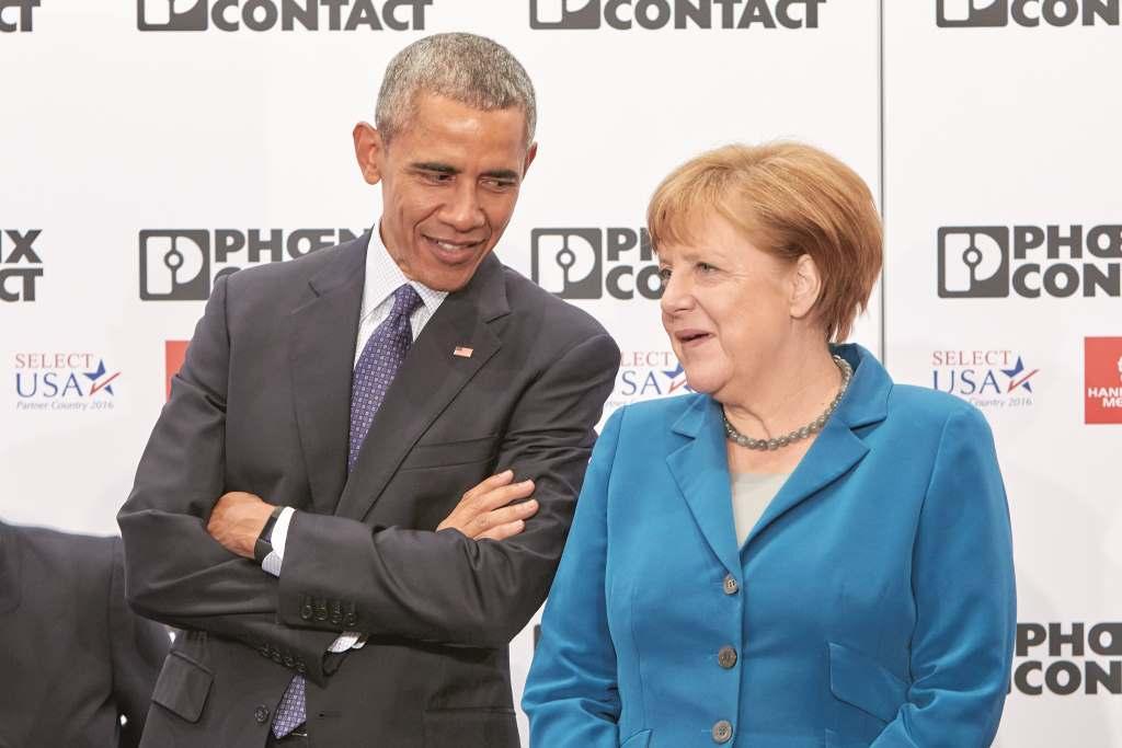 Vor drei Jahren: Barack Obama auf unserem Messestand