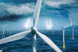 Windenergie ensteht im Windpark