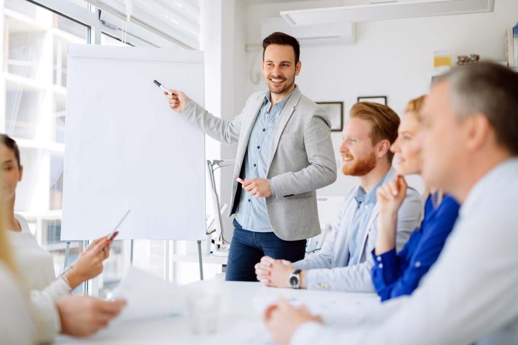 Nutzung von Flipcharts in Meetings
