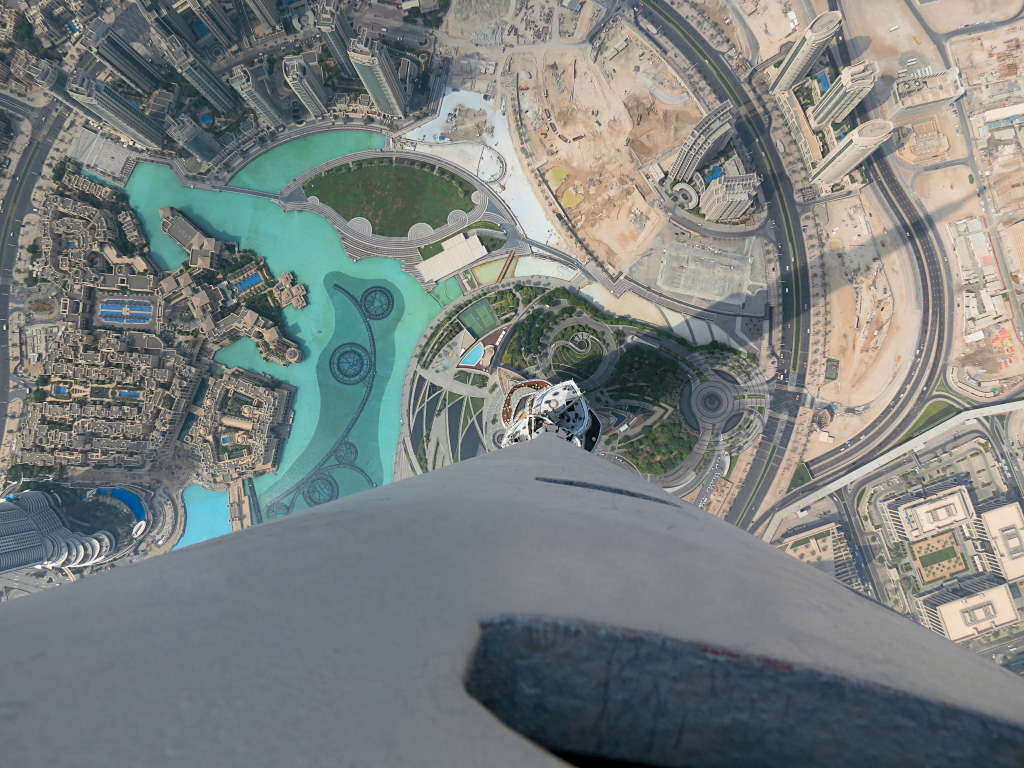 Blitze messen im Burj Khalifa