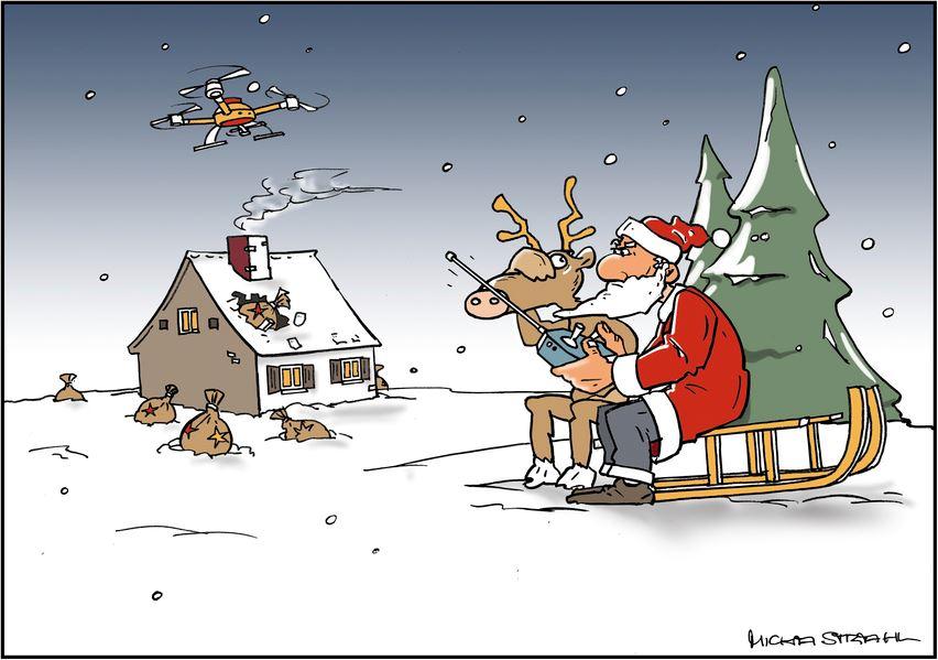 Der Weihnachtsmann im Zeitalter der Digitalisierung