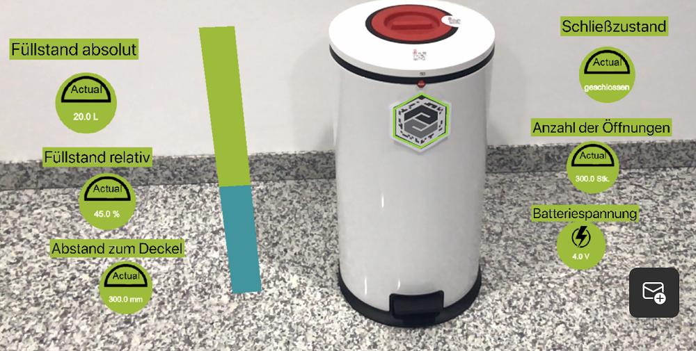 Hailo Abfallbehälter mit technischen Daten