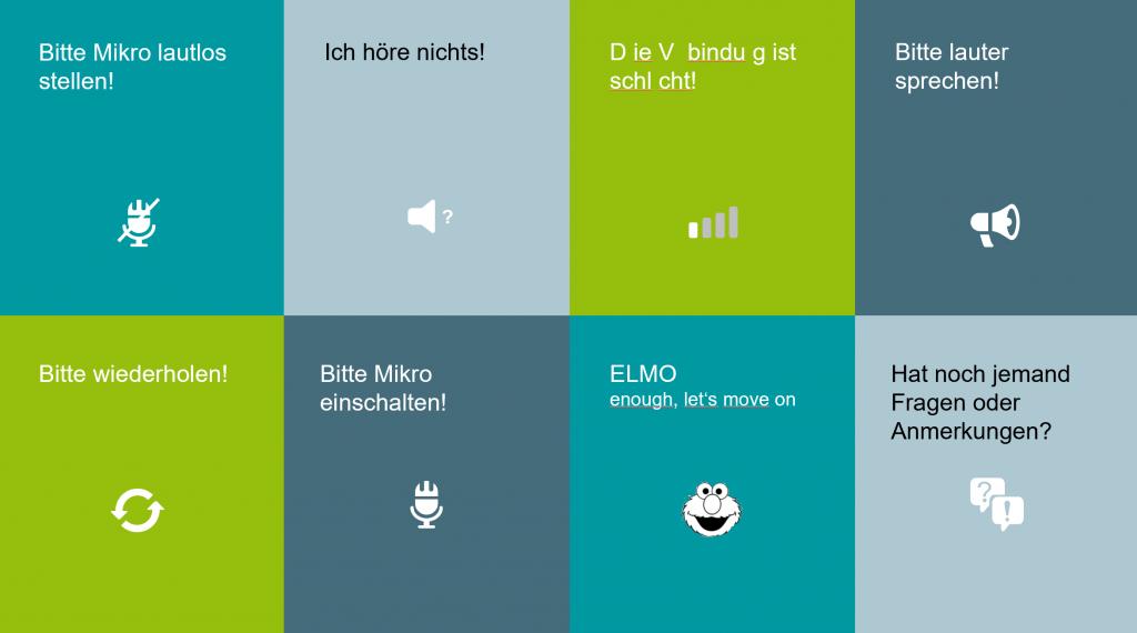 Moderationskarten für virtuelle Meetings