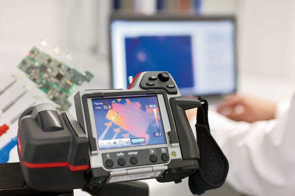 Thermographie im Labor für elektrische Gerätesicherheit