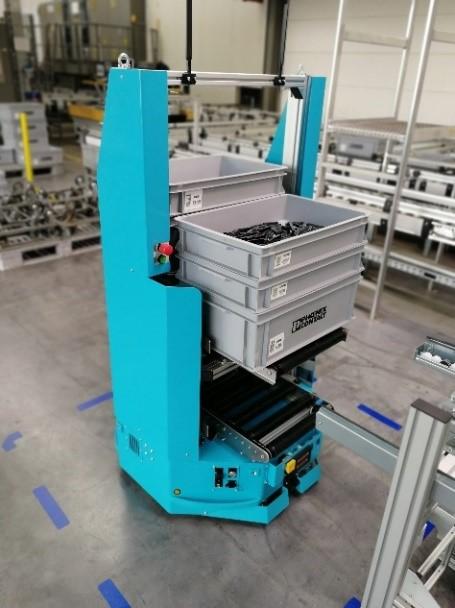 Fahrerloses Transportsystem in einer Smart Factory