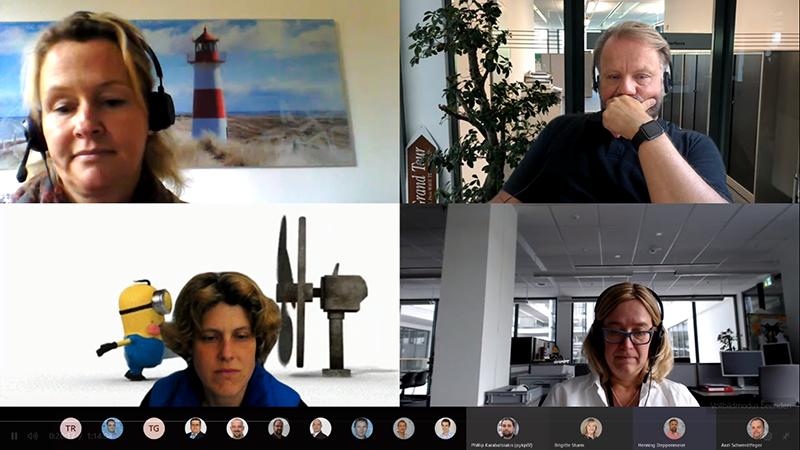 Screenshot einer Besprechung via Microsoft Teams