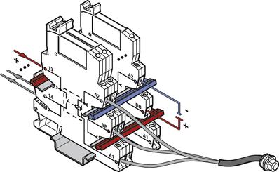 Proste oprzewodowanie czujników z konstrukcją w wersji czujnik PLC..SEN