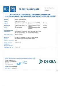 cb testing certificate