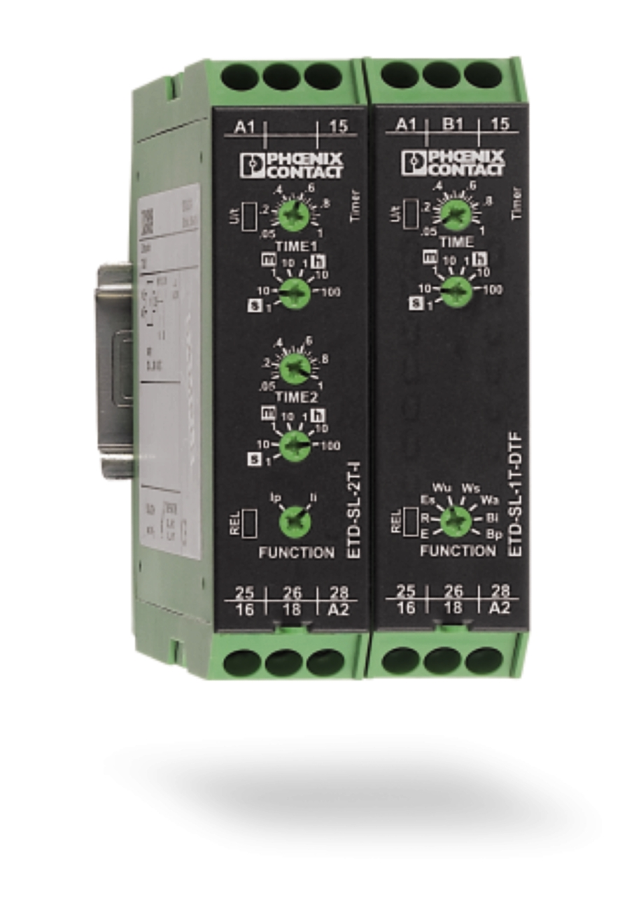 Phoenix Contact South East Asia On Off Delay Relay The Other Range Of Timer Relays From Is Multifunctional Etd Time These Are Just 225mm Making Them Comparatively