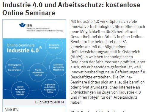 Industrie 4.0 und Arbeitsschutz