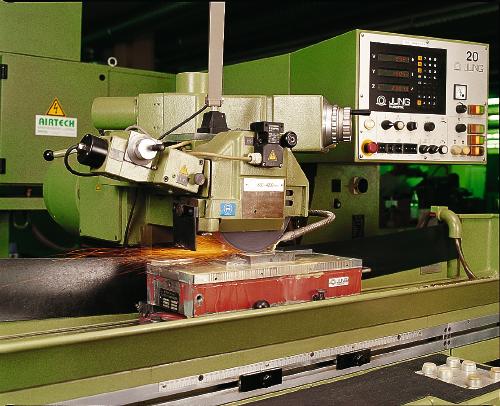 Stand der Technik an ortsfesten Schleifmaschinen