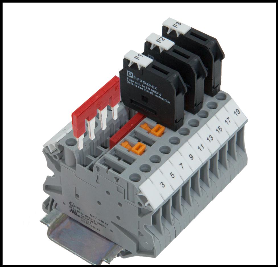 Ex Pluggable Fuse  U0026 Knife Disconnect Terminal Blocks